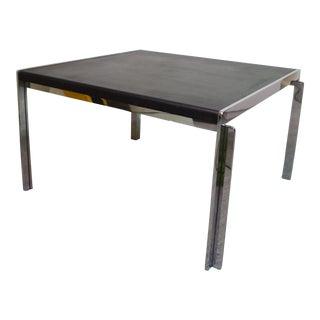 Mid-Century Stow Davis Leather & Chrome Table