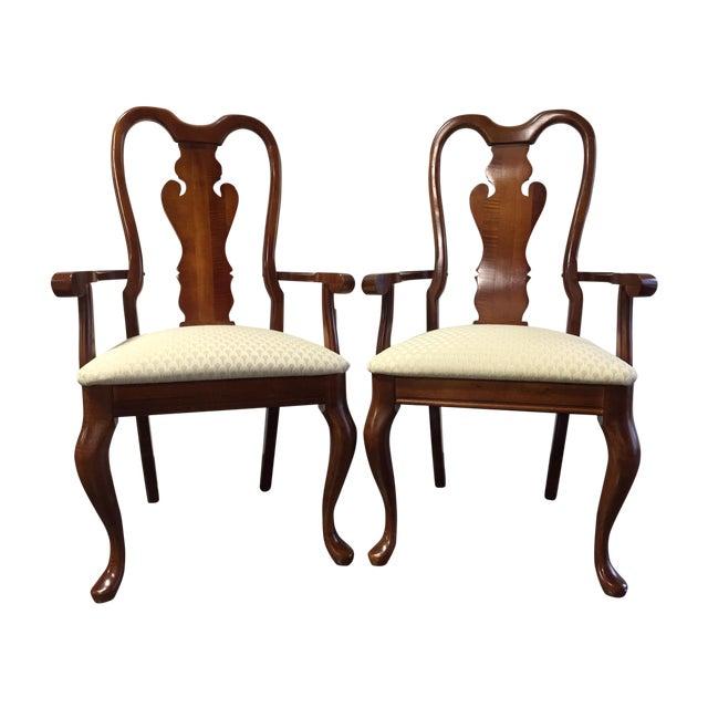 American Drew Queen Anne Armchairs A Pair Chairish