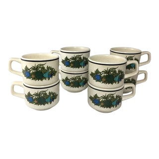 Fall Bounty Stoneware Cups - Set of 8