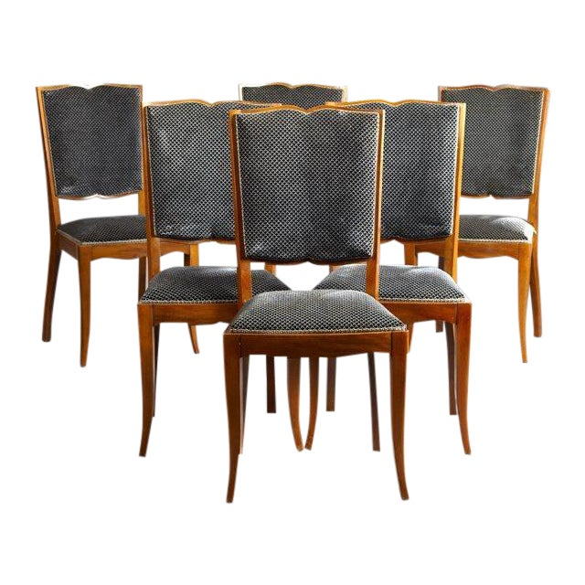 Art Deco Dining Chairs - Set of 6 - Image 1 of 4