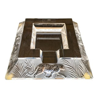 Crystal Lalique Jungle Ashtray
