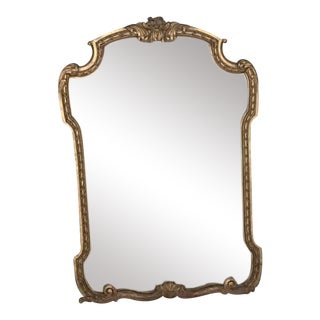 Antique Victorian Mirror From 1905 with Gilded Wooden Frame
