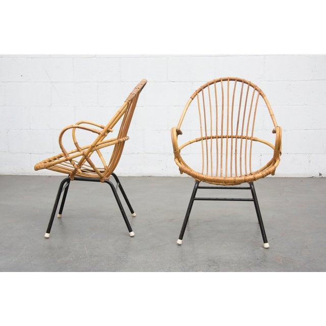 Rohe Noordwolde Bamboo Hoop Chairs - Pair - Image 2 of 8