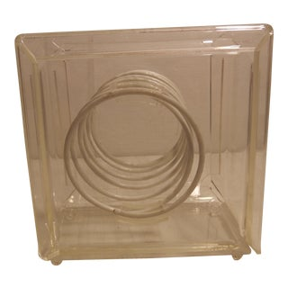 Vintage Acrylic Spring Loaded Tissue Paper Box