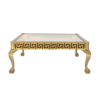 Mastercraft Vintage Greek Key Brass Coffee Table