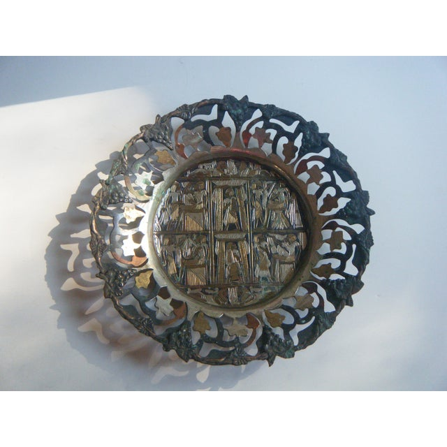 Vintage Copper and Brass Egyptian Tray - Image 2 of 5