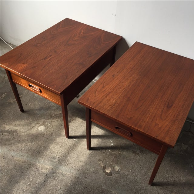 Teak Mid-Century Side Tables - Pair - Image 6 of 10