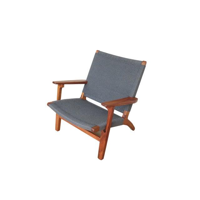 Mid Century Modern Gray Mahogany Lounge Chair - Image 5 of 5