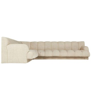 Steve Chase Channel Tufted L-Shape Sectional Sofa
