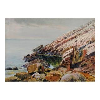 1907 Leopold Schwerin Swedish Coastal Scene Painting