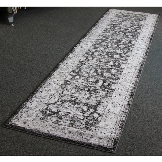 "Vintage Style Distressed Gray Runner- 2'8"" x 10' - Image 2 of 6"