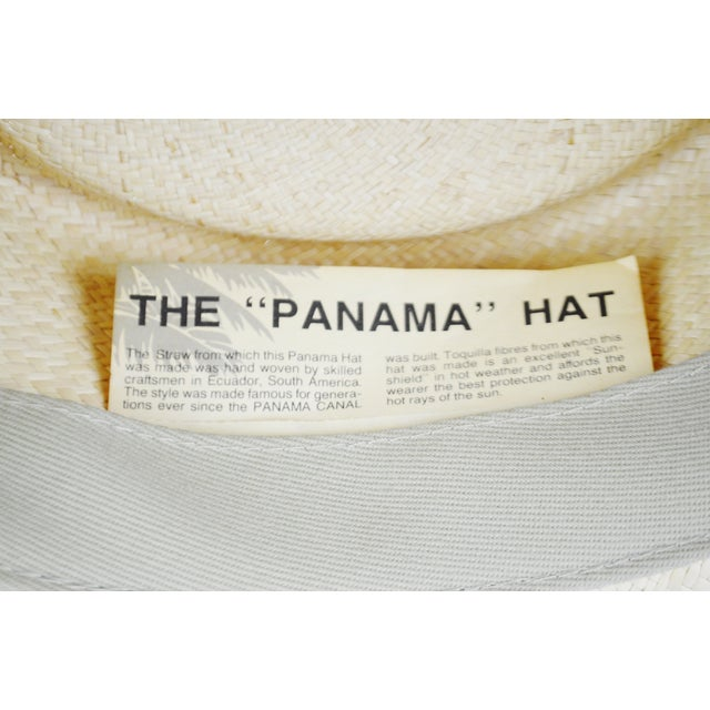 Vintage Genuine Hand-Woven Panama Hat - Image 10 of 10