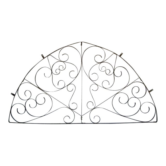 Large Scale Decorative Iron Architectural Arch - Image 1 of 10