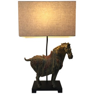 Asian Ming Horse- Large Table Lamp