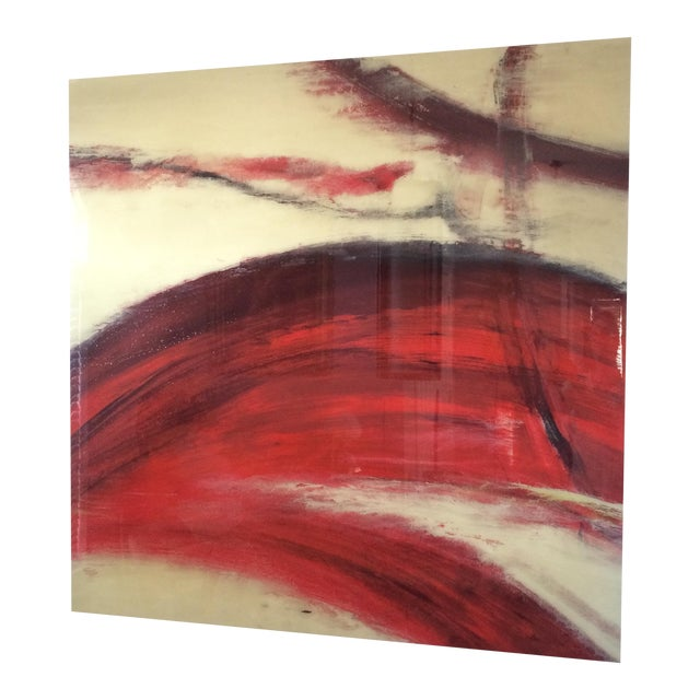 Crimson Wash Contemporary Wall Art - Image 1 of 6