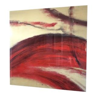 Crimson Wash Contemporary Wall Art