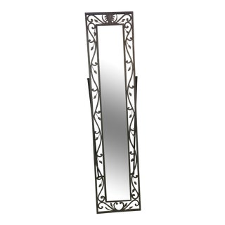 Metal Leaves Design Free Standing Mirror