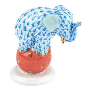 Herend Elephant on Ball Porcelain Figurine