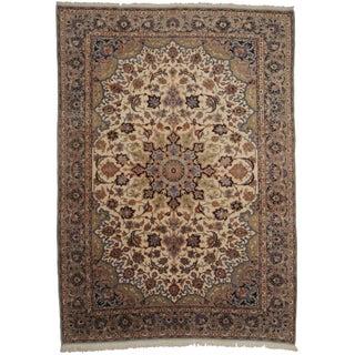 "Vintage Persian Najafabad Area Rug - 8'10"" X 12'7"""