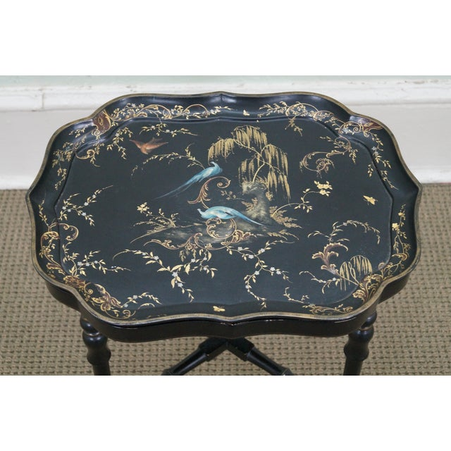 Jennens & Bettridge Hand Painted Tray Top Table - Image 3 of 10
