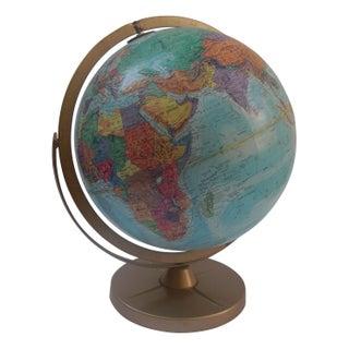 Vintage Mid-Century Globe on Metal Stand