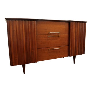 Mid-Century Danish Modern 2-Door Walnut Credenza