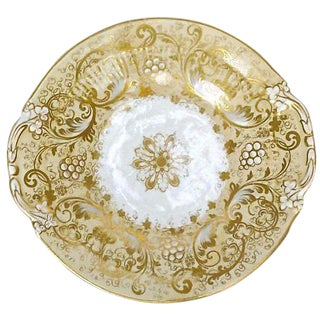 Antique Porcelain Acanthus and Berry Plate