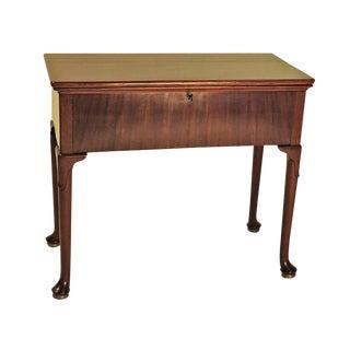George III Mahogany Harlequin Desk