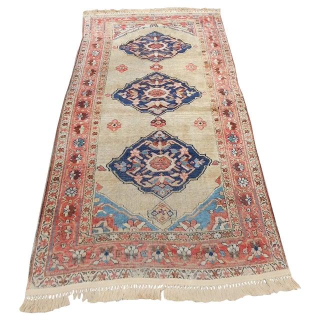 Antique Persian Kurdish Oriental Rug - 4′ × 7′5″ - Image 1 of 9