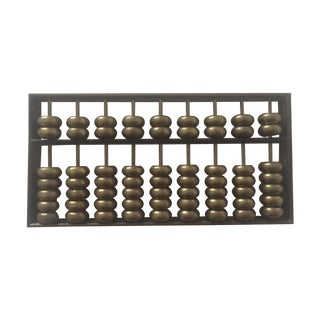 Vintage Solid Brass Asian Abacus