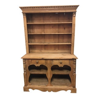 Pine 2 Drawer Hutch