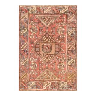 "Pasargad Vintage Oushak Wool Area Rug - 4' 1"" X 5'11"""