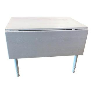 Vintage White Drop Side Farm Table
