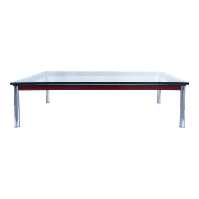le corbusier lc 10 p coffee table by cassina chairish. Black Bedroom Furniture Sets. Home Design Ideas