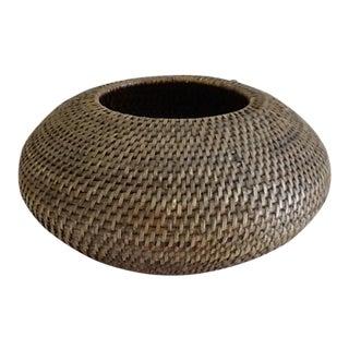Large Boho Tribal Woven Basket Vessel