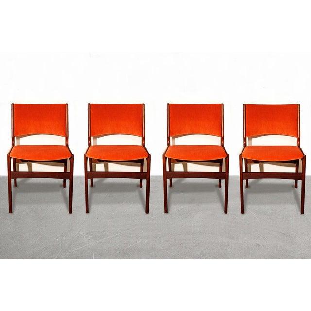 Image of Arne Vodder Style Teak Side Chairs - Set of 4