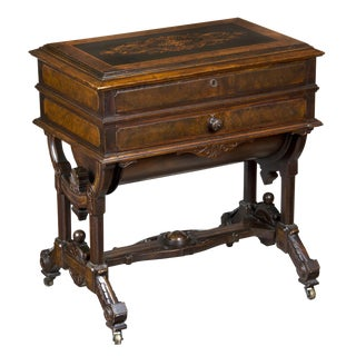 Renaissance Revival Walnut & Marquetry Dressing Table