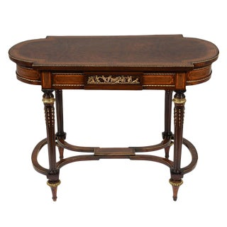 Traditional French Louis XVI-style Mahogany Side Table