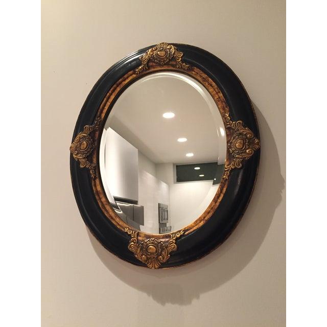 Beveled Black & Gilded Mirror - Image 4 of 8
