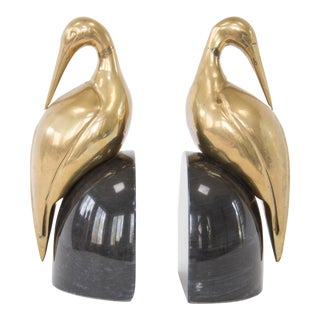 Art Deco Crane Bookends - a Pair