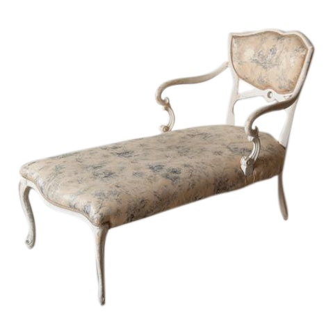 Antique louis xvi style chaise chairish for Chaise louis xvi