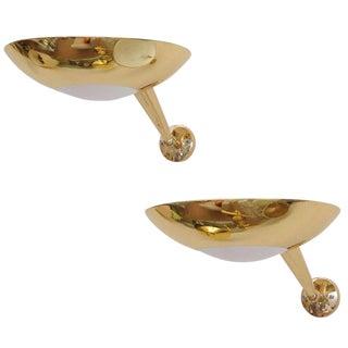 Stilnovo Gilt Bronze Sconces - A Pair