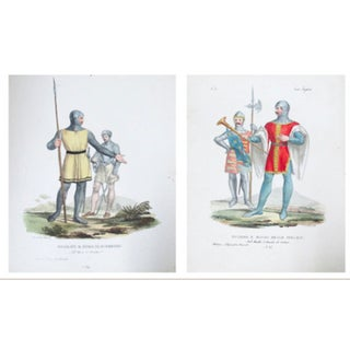 C. 1799 Vintage Italian Prints of Soldiers - Pair