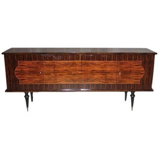 French Art Deco sideboard / buffet Exotic Macassar Ebony, circa 1940s .