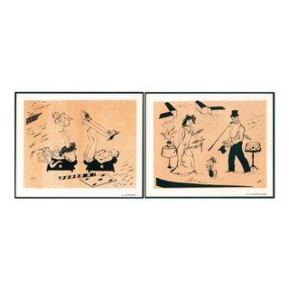 1944 'Circus: # 24 & 29' Lithographs - A Pair