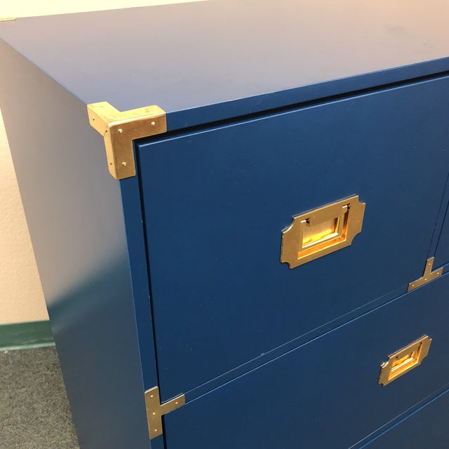 Blue Campaign Style Chest of Drawers - Image 3 of 7