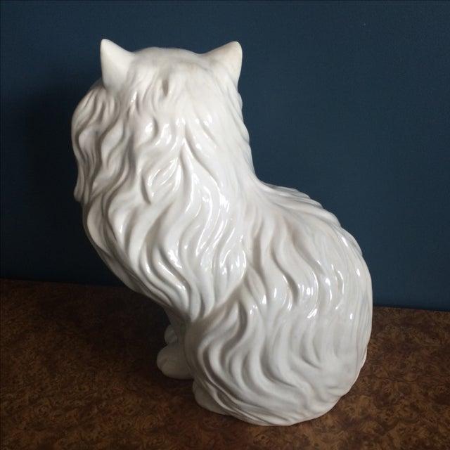 White Ceramic Cat - Image 6 of 8