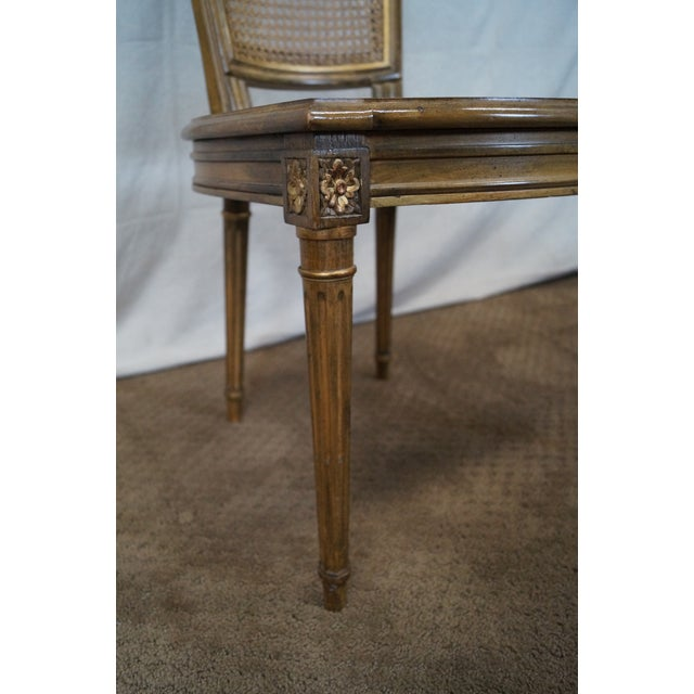 French Louis XVI Caned Dining Chairs - Set of 6 - Image 7 of 10