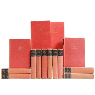 Muted Red & Gilt Classics - Set of 14