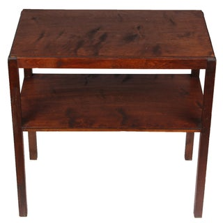 Mid-Century Cherry Side Table